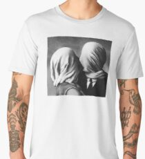 The Lovers Magritte Men's Premium T-Shirt