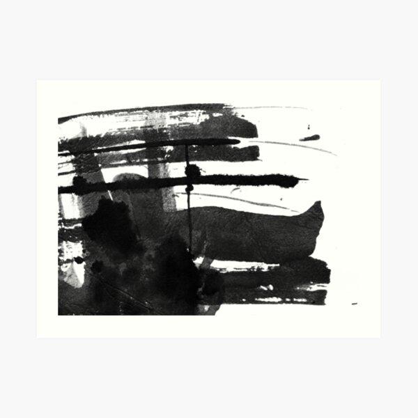 Black #abstract  Art Print