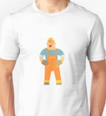 Happy Builder On Construction Site T-Shirt