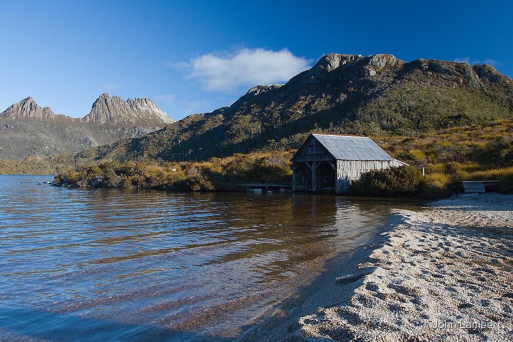 Dove Lake Boathouse, Cradle Mountain by John Lambert