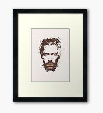 House M.D. Hugh Laurie splatter painting Framed Print