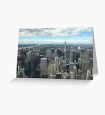 View of Manhattan, New York  Greeting Card