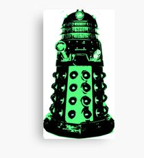 Dalek - Green Canvas Print