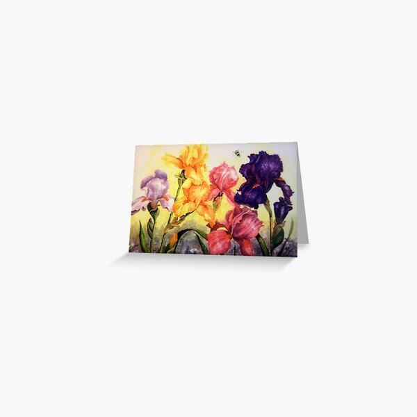 Glorious Irises Greeting Card