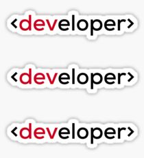 Developer Sticker