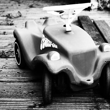 black and white little red bobby car von Mows