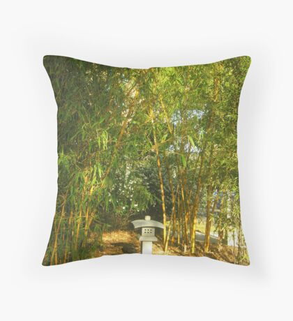 Under The Bamboo Throw Pillow