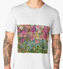 flower field Men's Premium T-Shirt