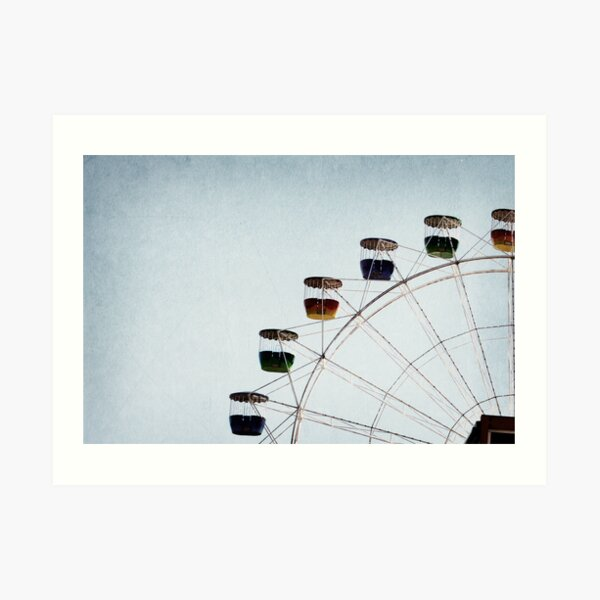 I see nothing in space as promising as the view from a ferris wheel. Art Print