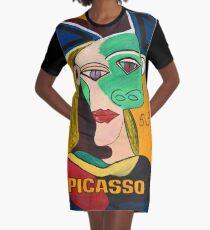 Crazy Picasso Graphic T-Shirt Dress