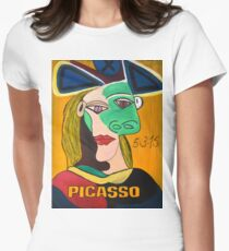 Crazy Picasso Women's Fitted T-Shirt
