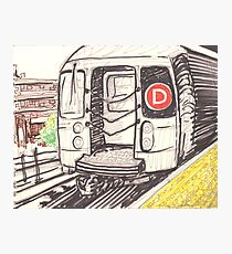 the d train Photographic Print