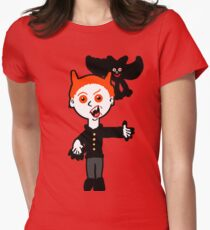 Lil Vlad and Boris the Bat.  Womens Fitted T-Shirt