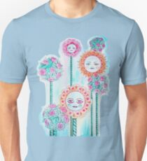 Beautiful Day - Whimsical Floral Watercolor and Ink T-Shirt