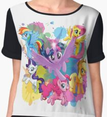 my little pony movie mane 6 Women's Chiffon Top