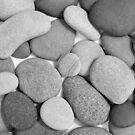 Zen Stones Black and White  by Kathilee