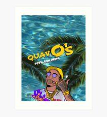 Quavo's Cereal Beach Blue Art Print
