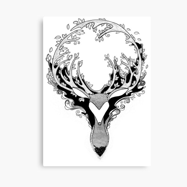 De Deer by Pet de Pineapple Canvas Print