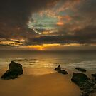 Sunset at Bedruthan steps Cornwall by eddiej