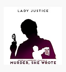 Murder She Wrote: Lady Justice Photographic Print