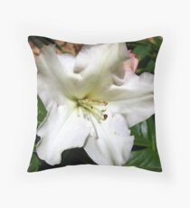 Single rhododendron Throw Pillow