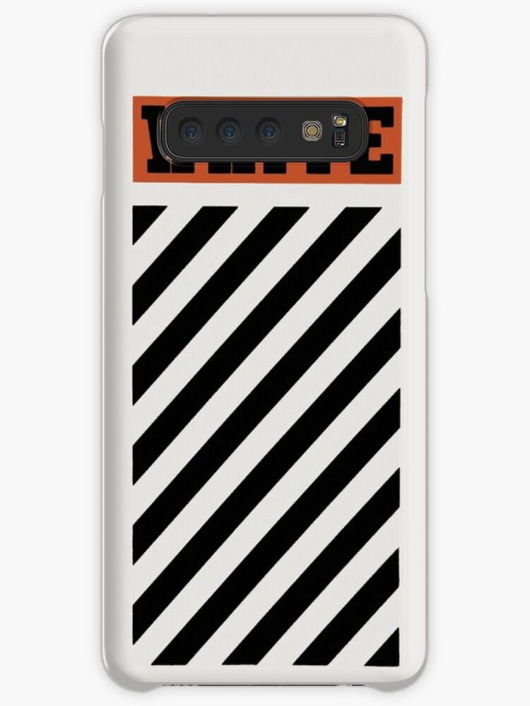 reputable site a2222 ed5c3 'Off-White Style Virgil Abloh Diagonal Phone Case Off White Orange'  Case/Skin for Samsung Galaxy by nChuggeT