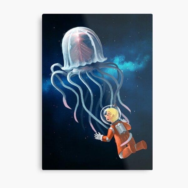 Space Jellyfish Metal Print