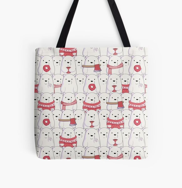 Ice Bear's sweater weather All Over Print Tote Bag