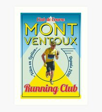 Chris Froome Mont Ventoux Running Club Art Print