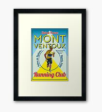 Chris Froome Mont Ventoux Running Club Framed Print