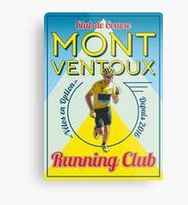 Chris Froome Mont Ventoux Running Club Metal Print
