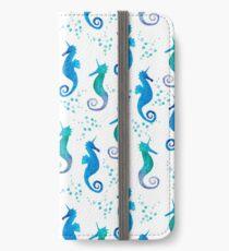 Unicorn seahorse pattern iPhone Wallet/Case/Skin
