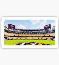 LSU Tiger Stadium Water Color Death Valley Sticker