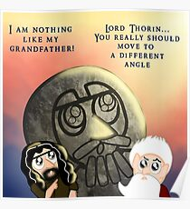 Thorin Oakenshield and the Statue of Thror Poster