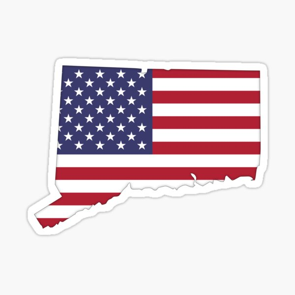 Connecticut — USA Flag Sticker