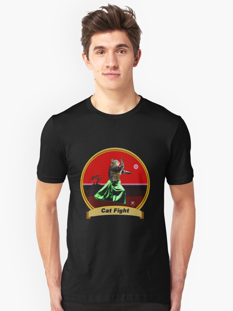 Cat Fight- 'Kung Fu Kitty' Unisex T-Shirt Front