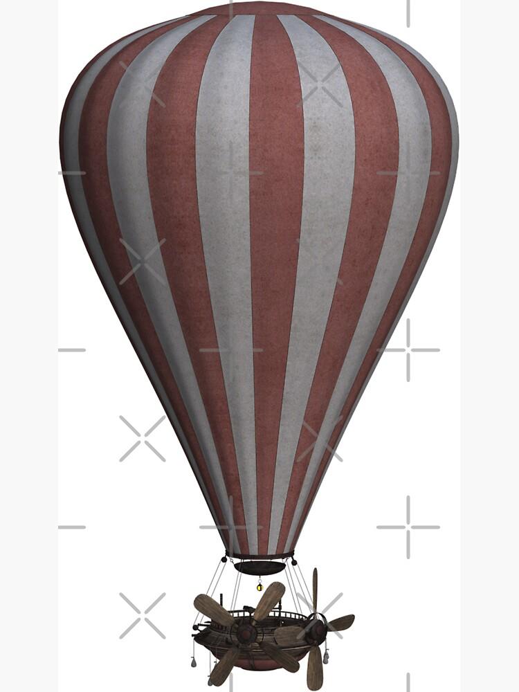 Steampunk Hot Air Balloon Airship Print by thespottydogg