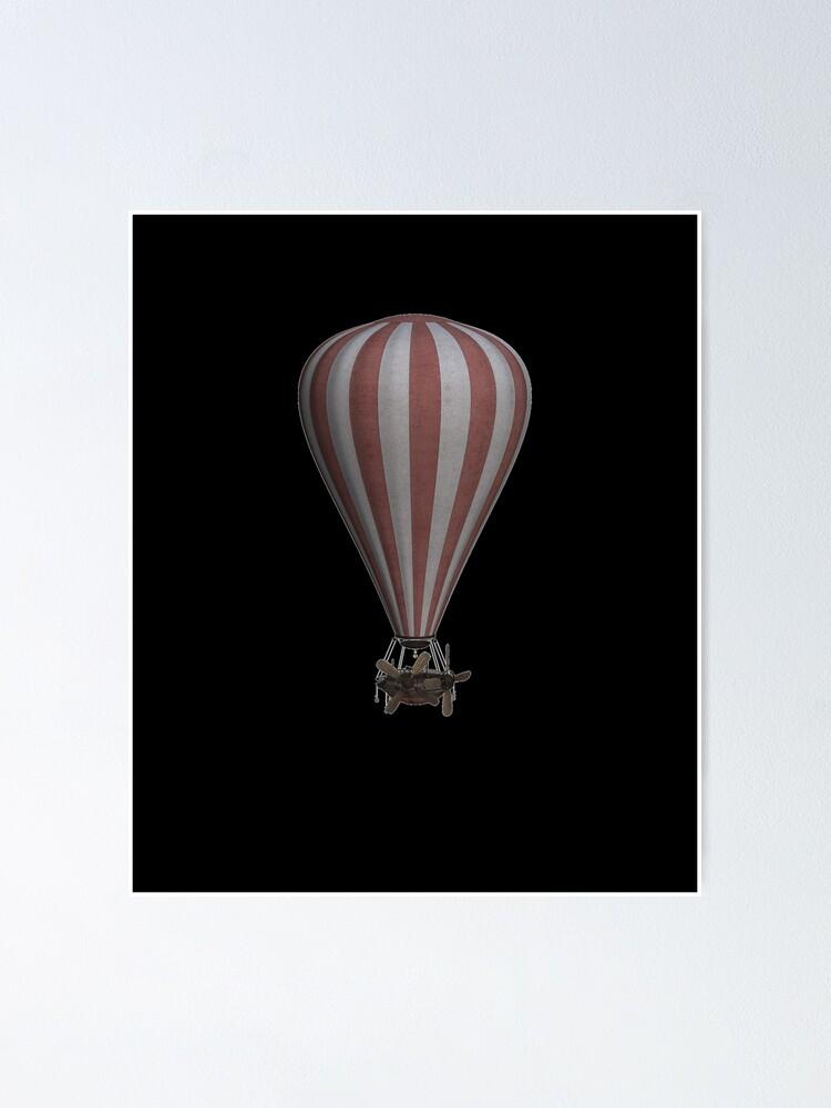 Alternate view of Steampunk Hot Air Balloon Airship Print Poster
