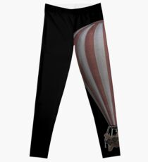 Steampunk Hot Air Balloon Airship Print Leggings