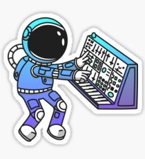 Synth Astronaut Sticker