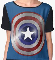 metallic america shield Women's Chiffon Top