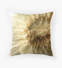 Intricate Frills on Underside of Garlic Bulb Throw Pillow