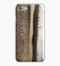 Flipping Through a Medieval Manuscript iPhone Case/Skin