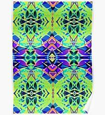 Floral Geometric Pattern Poster