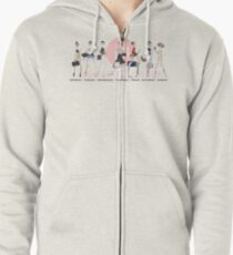 Ballet Style Zipped Hoodie