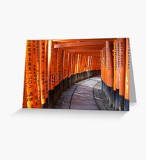 The torii gates of Fushimi Inari-taisha Greeting Card