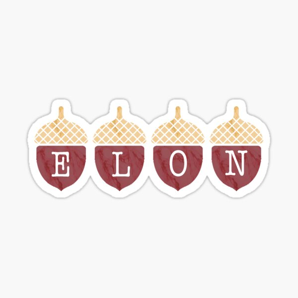 Elon Acorns Sticker