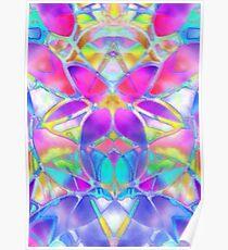 Floral Fractal Art Poster