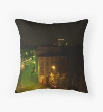 Frankfurt Night Streetscape 1 Throw Pillow