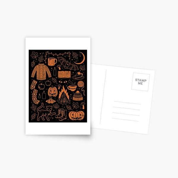 Autumn Nights: Halloween Postcard